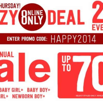 Crazy8 Sale: Up to 70% off + Extra 20% off!