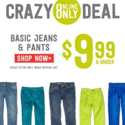 Crazy8.com: $9.99 and Under Pants Sale!