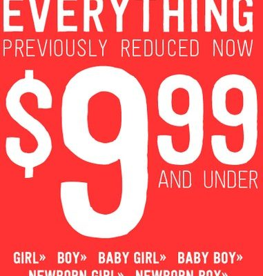 Crazy8.com: Previously Reduced Items now $9.99 and Under!