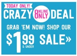 Crazy8.com: $1.99 and Under Sale Today Only!
