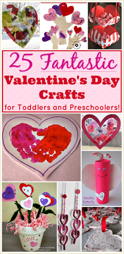 Valentine crafts for preschoolers 25 easy projects for for Valentine crafts for preschool