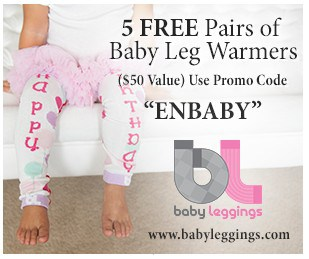 Get 5 FREE Pairs of Baby Leg Warmers ($50 Value)!