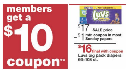 image regarding Printable Luvs Coupons identified as Kmart Bargains: Luvs Diapers as minimal as $0.10/Diaper with