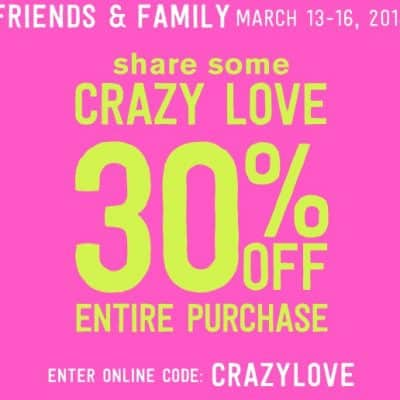 Crazy8 Sale: 30% off Entire Purchase (Including Markdowns)!