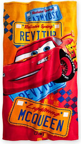 disney cars towel
