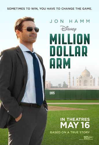 jon hamm million dollar arm poster
