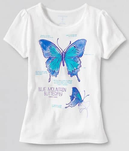lands end butterfly shirt