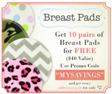 10 Pairs of Designer Breast Pads for FREE! Just pay Shipping!