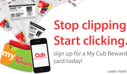 cub rewards load to coupon