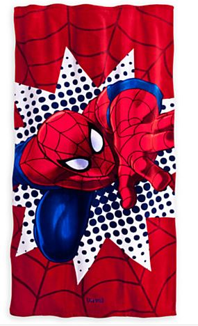 disney spiderman towel