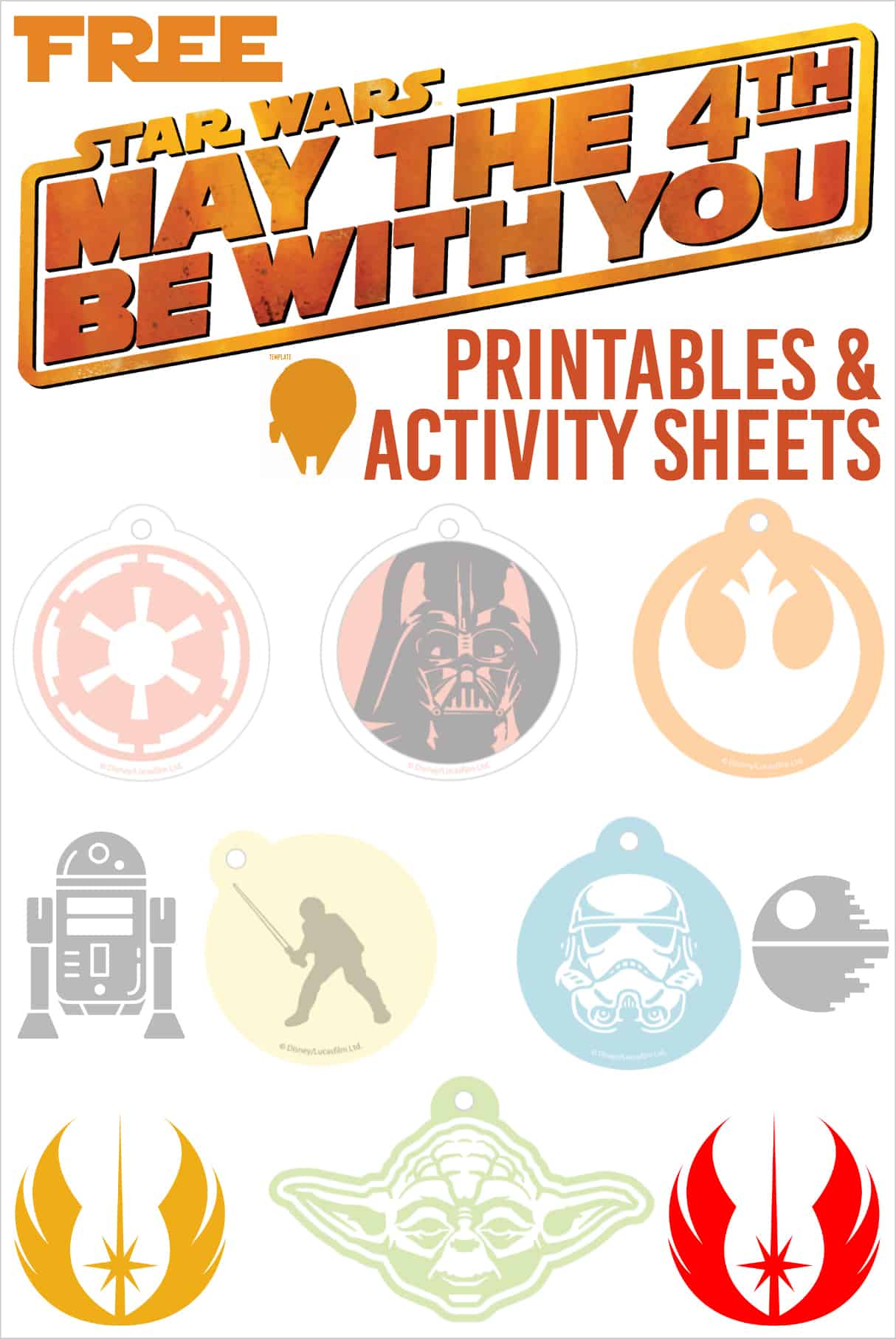 May the fourth be with you graphic for printables