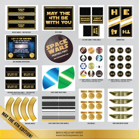 May the 4th printables for Star Wars day