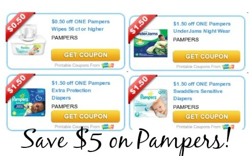 Pampers sensitive diapers coupons