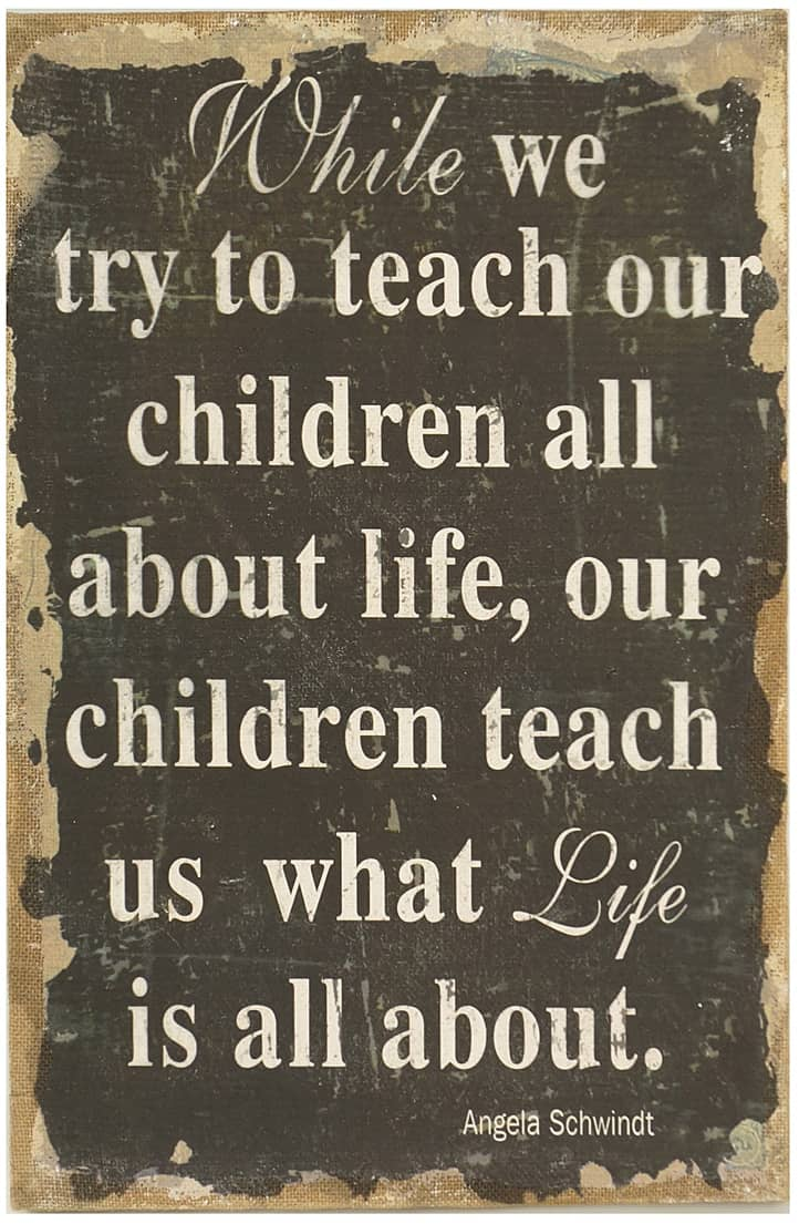 try to teach our children about life