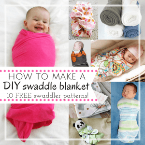 DIY swaddle blanket pattern