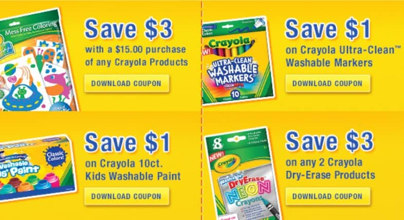 Crayola manufacturer coupons