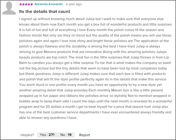 julep reviews