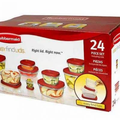 Walmart: Rubbermaid 24-Piece Easy Find Lids Storage Container Set $10!