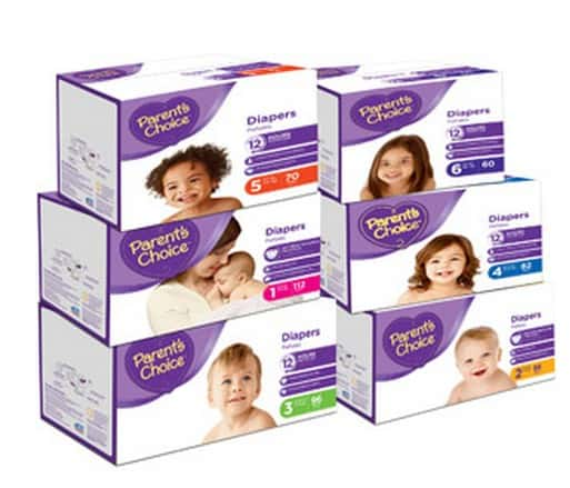 photograph relating to Parents Choice Formula Coupons Printable named Walmart Coupon Bargains: Dad and mom Option Diapers merely $0.11/Diaper!