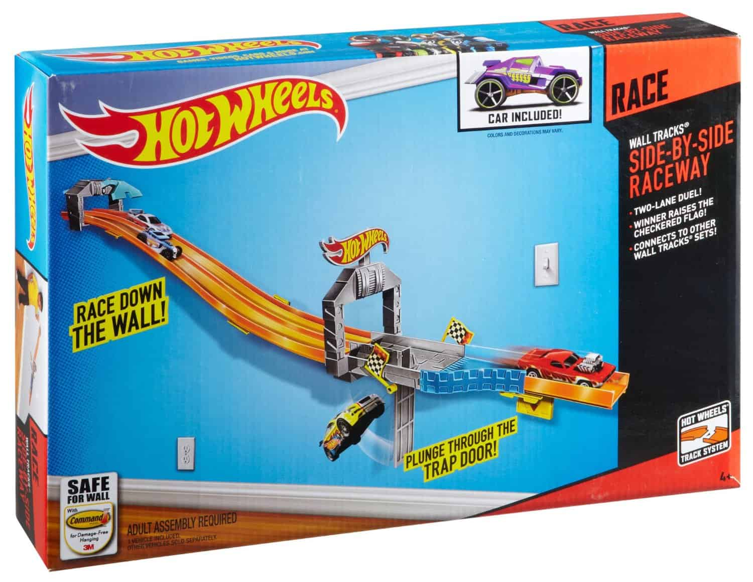 save 52 on the hot wheels wall tracks side by side. Black Bedroom Furniture Sets. Home Design Ideas