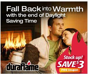 $3 off Duraflame Coupon + Chance to Win Fire Logs for the Entire Winter!