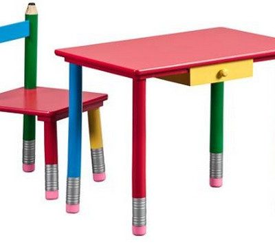 kids desk set