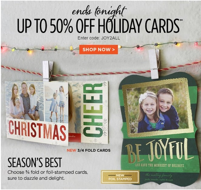 shutterfly promo code up to 50 off holiday cards - Shutterfly Holiday Cards
