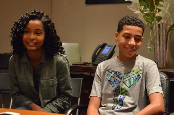 Yara Shahidi and Marcus Scribner blackish kids