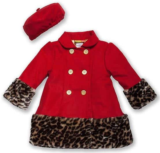 adorable red coat for toddlers