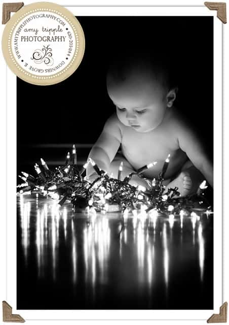 baby christmas card ideas with lights