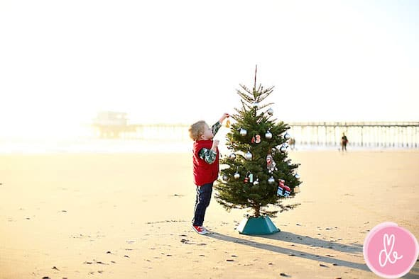 baby christmas photo ideas beach