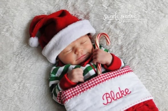 Baby Christmas Card Photograph Ideas