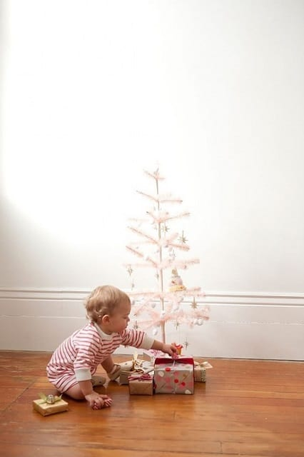 baby picture charlie brown christmas tree