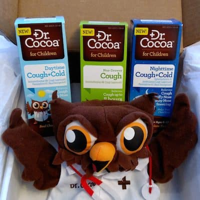 Chocolate Flavored Cough and Cold Medicine for Kids from Dr. Cocoa #DrCocoaReliefWithASmile