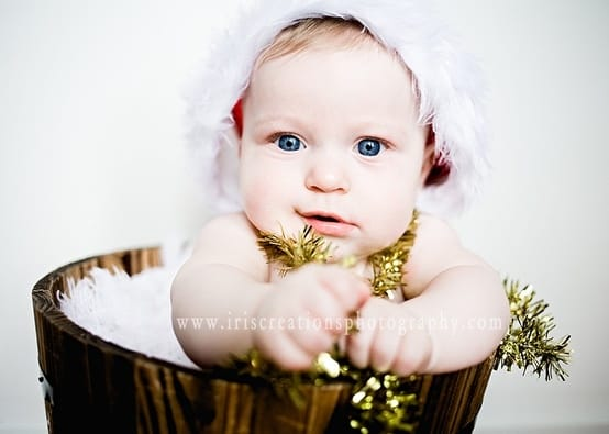 winter baby christmas card ideas