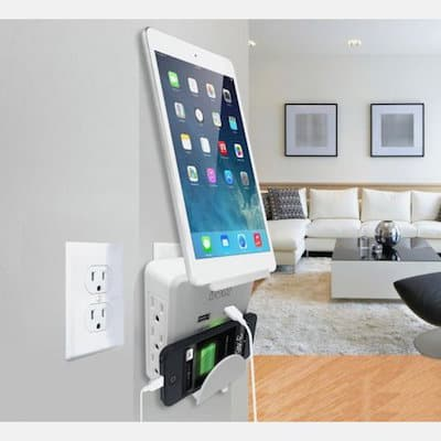 charging station with usb and wall plug