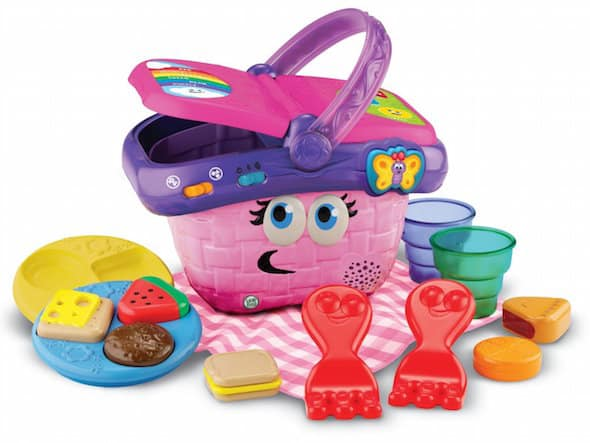 Leapfrog shapes sharing picnic basket