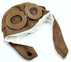 toddler aviator cap with goggles