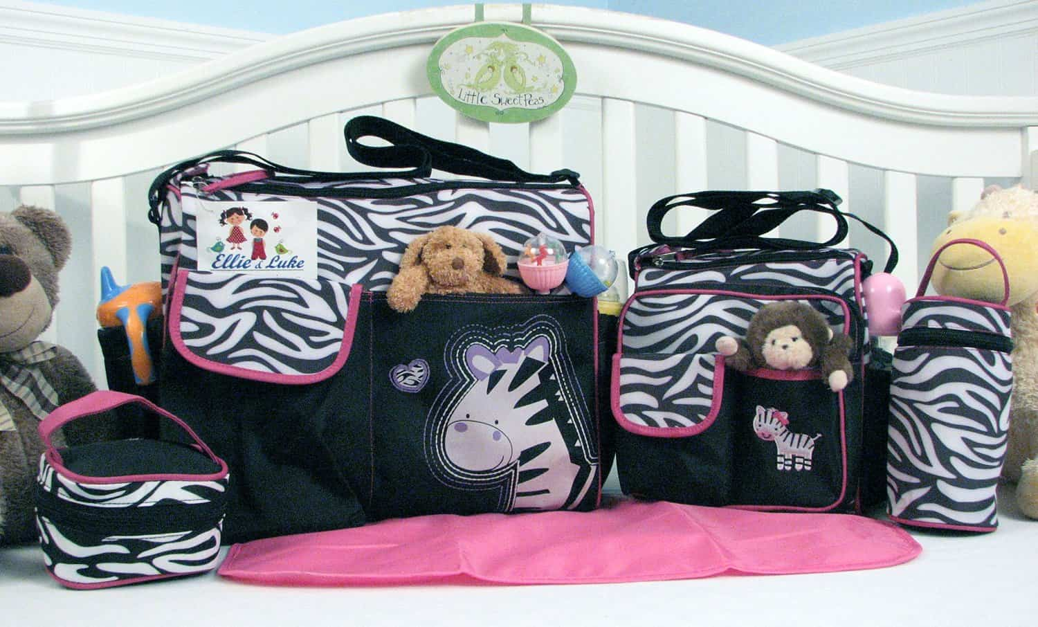 zebra-diaper-bag-set