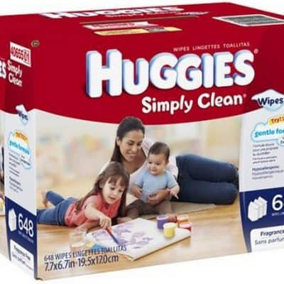Huggies Simply Clean Wipes $0.02wipe, Free Shipping!