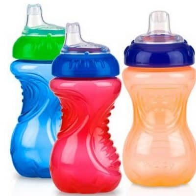 Nuby 3-Pack 10-oz No-Spill Gripper Cup only $6, FREE Shipping Eligible!