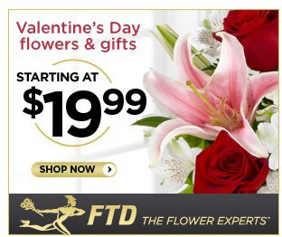Order your valentine 39 s day flowers from ftd starting at for Buying roses on valentines day