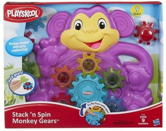 Playskool Toy Food : Playskool stack n spin monkey gears toy free