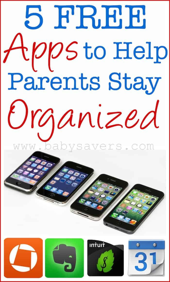 apps to help parents get organized
