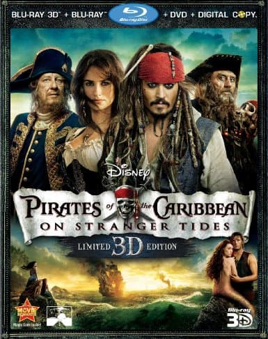 pirates of the caribbean on stranger tides five disc combo
