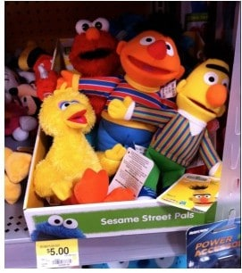 Walmart Coupon Deals: Sesame Street Plush Dolls only $3 with Printable Coupon!