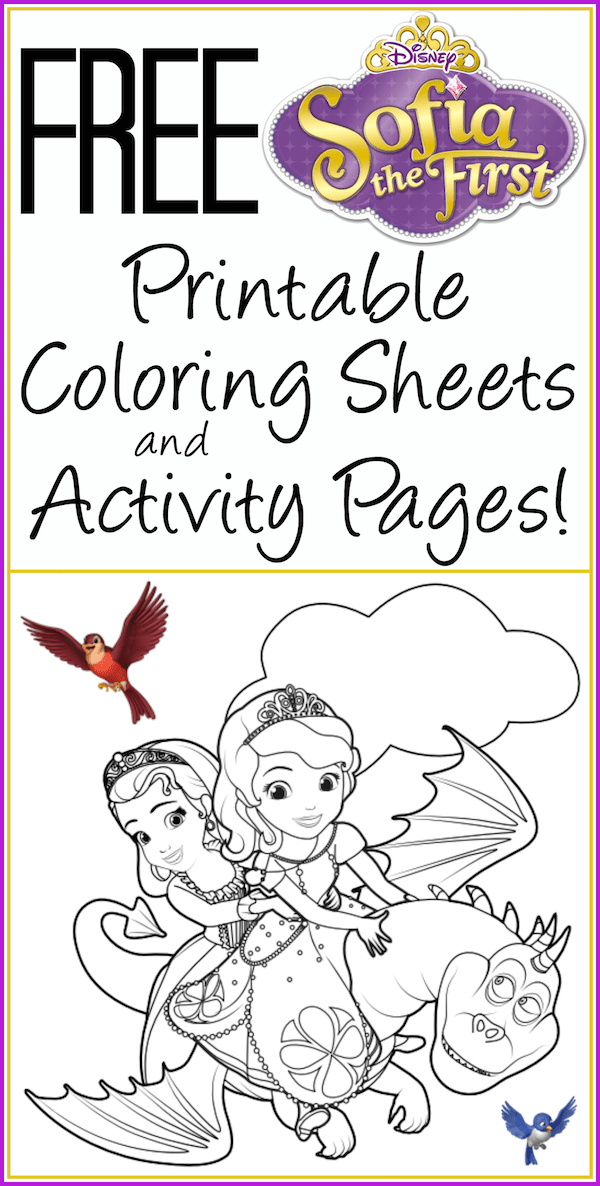 Free Printable Sofia The First Coloring Sheets
