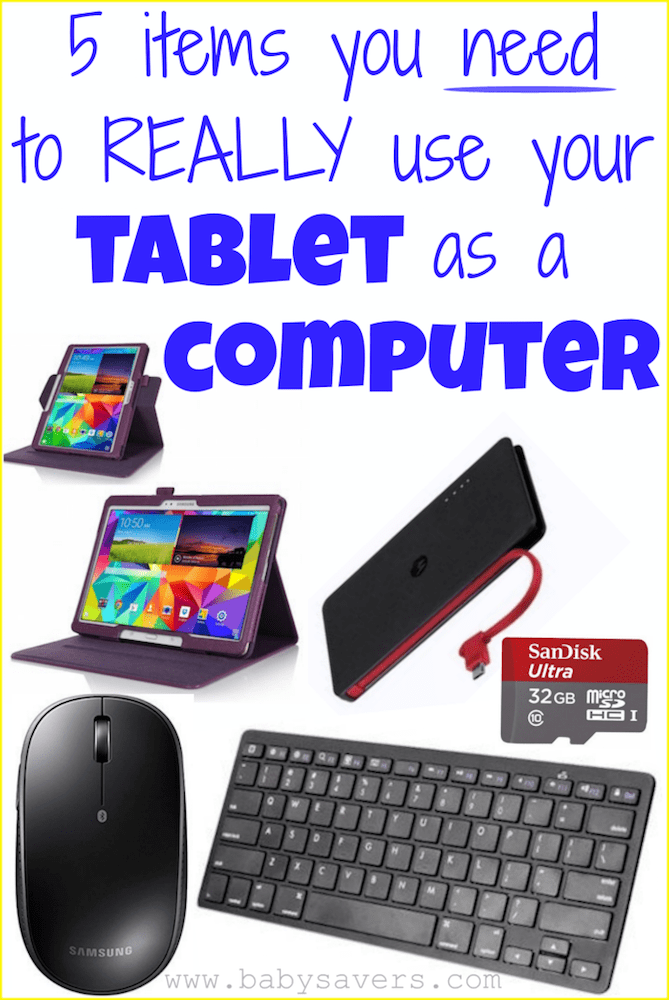 using tablet as computer