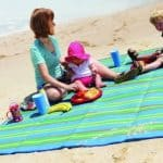Save 44% on Large Washable Beach /Picnic Blanket, Lightweight and Sand Proof with Zipper Pouch and 4 Pegs, Free Shipping Eligible!