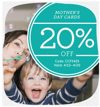 Cardstore Promo Code: 20% off Mother's Day Cards!